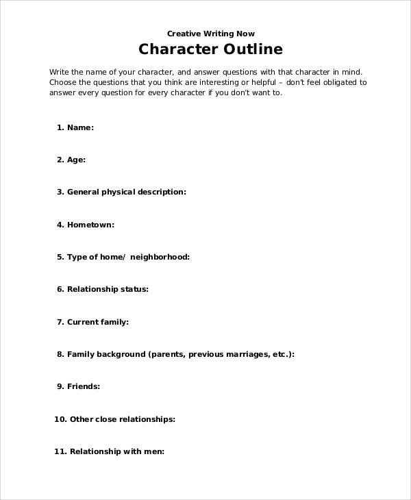 Character Outline Templates