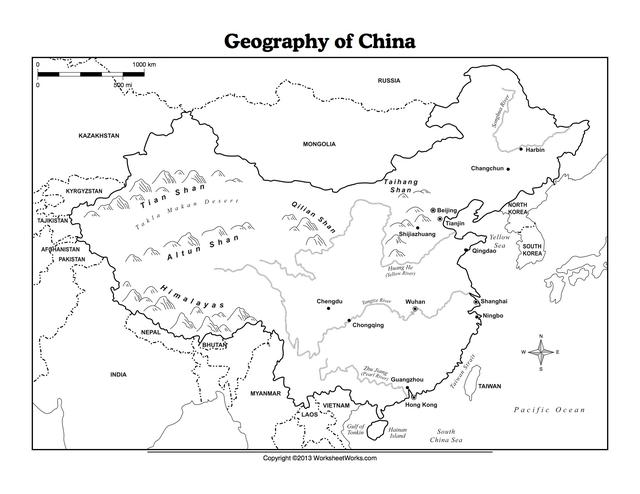 Geography Of Ancient China Worksheets