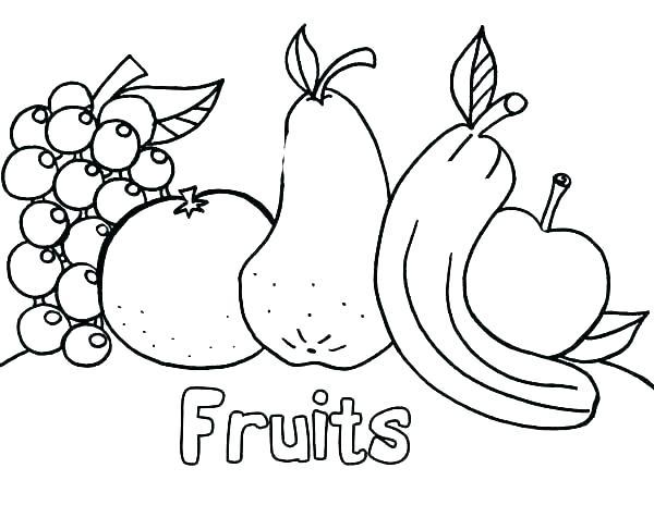 Coloring Fruits Worksheets