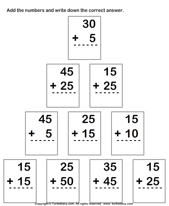 Column Addition Of Two Two Digit Numbers With Regrouping Worksheet