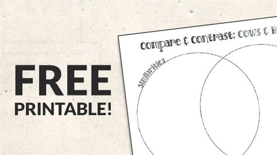 Free Printable  Compare And Contrast Worksheets
