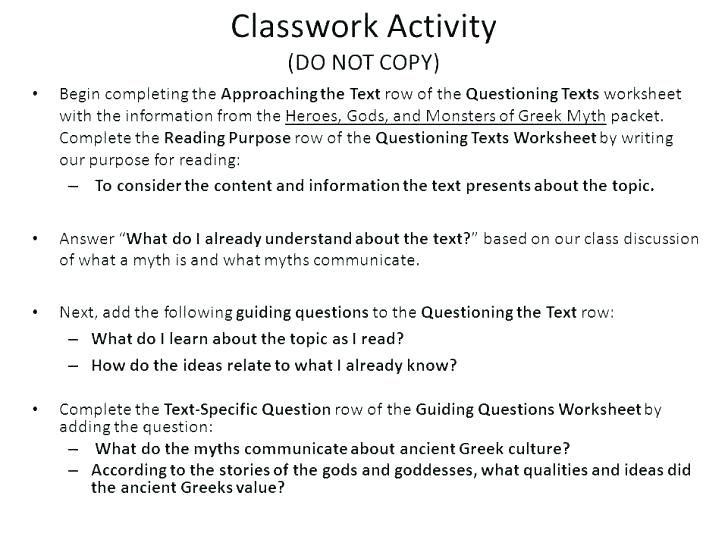 Culture Worksheets For Middle School Multiple Main Ideas Kids