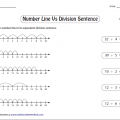 Division Number Line Worksheets