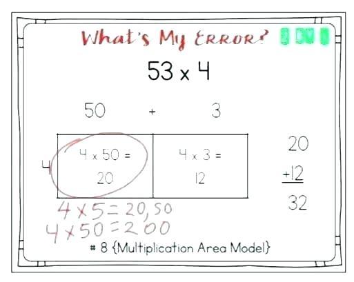 Division With Arrays Worksheet Multiplication Worksheets Grade 3