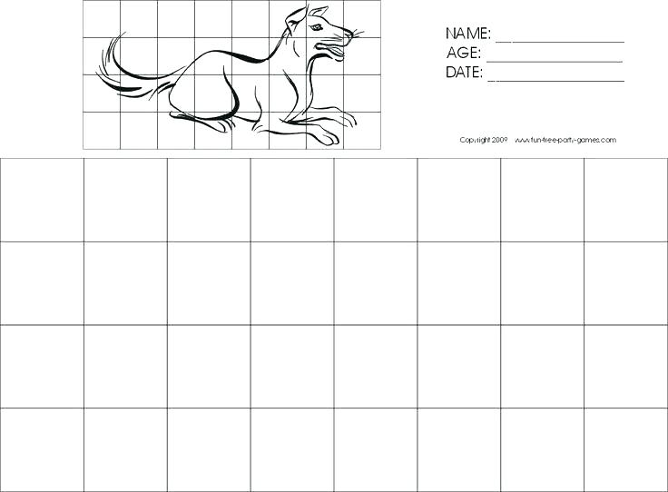 Easy Grid Drawing Worksheets At Paintingvalley Com