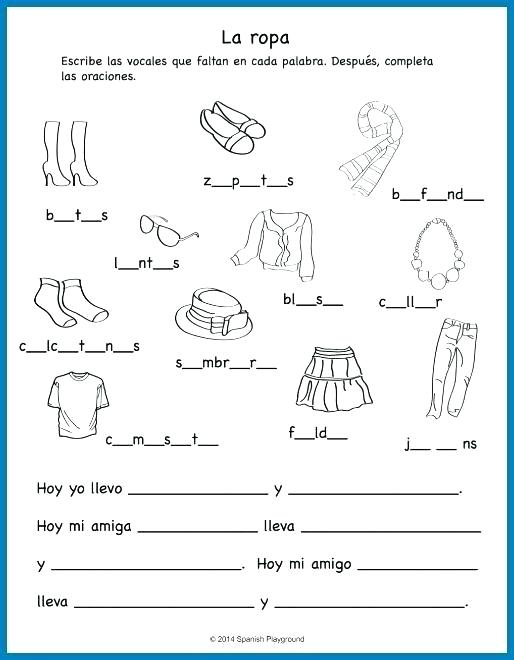 Spanish Worksheets – Katyphotoart Com
