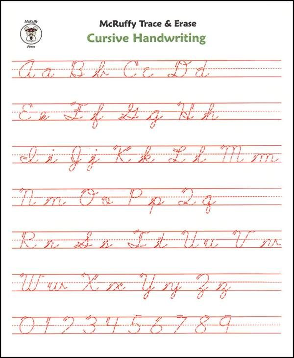 Free Cursive Writing Worksheets For Adults