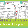 Kinder Math Worksheets Free