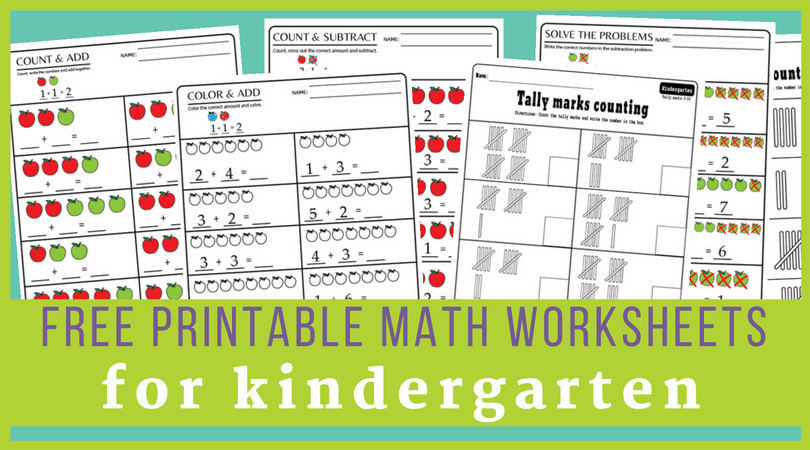 Free Download Kindergarten Math Worksheets