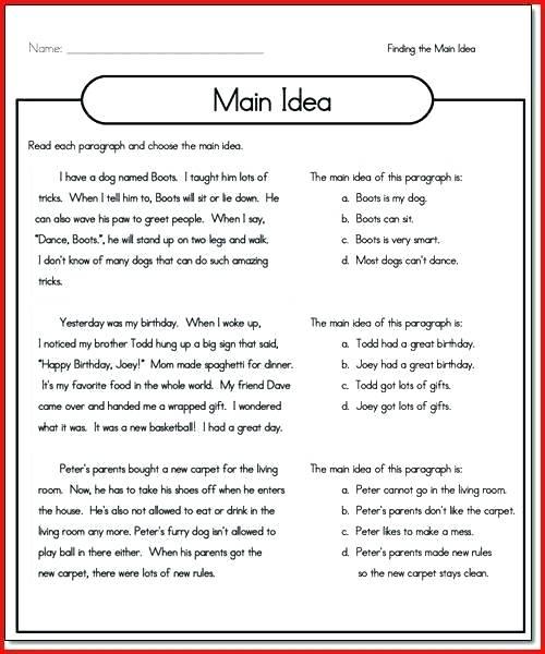 Main Ideas Worksheets 2nd Grade Palindrome Worksheets 3rd Grade