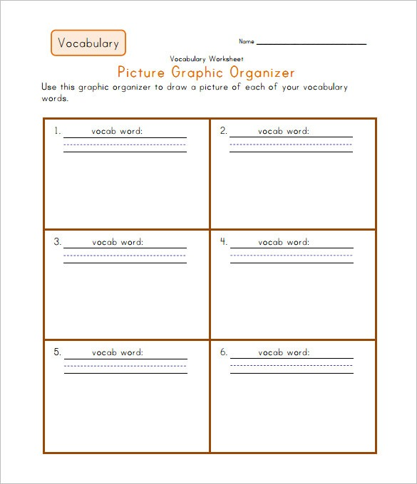 7+ Blank Vocabulary Worksheet Templates