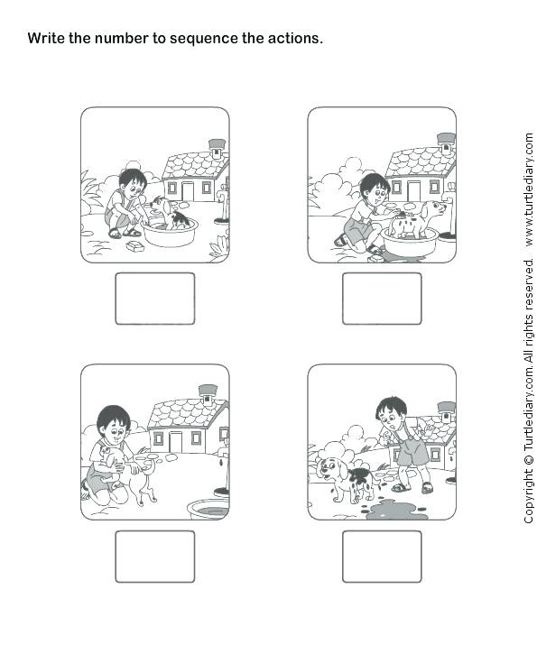 Sequential Order Activities For First And Second Graders Grade