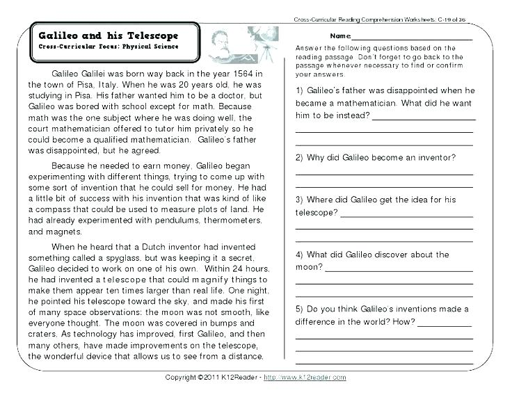 Free Second Grade Reading Worksheets Grade Reading Comprehension