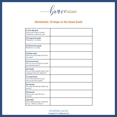 Worksheet  10 Steps To Set Good Goals