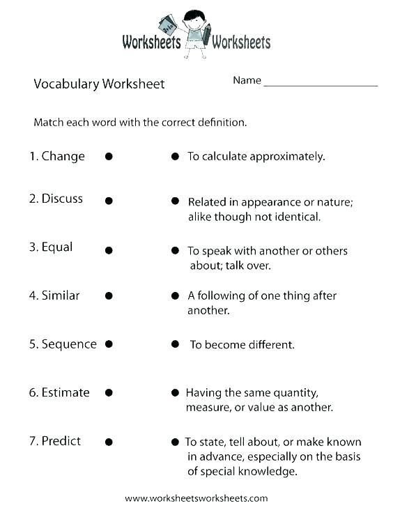 Grade 9th Grade Vocabulary Worksheets Third Grade Vocabulary