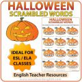Halloween English Worksheets