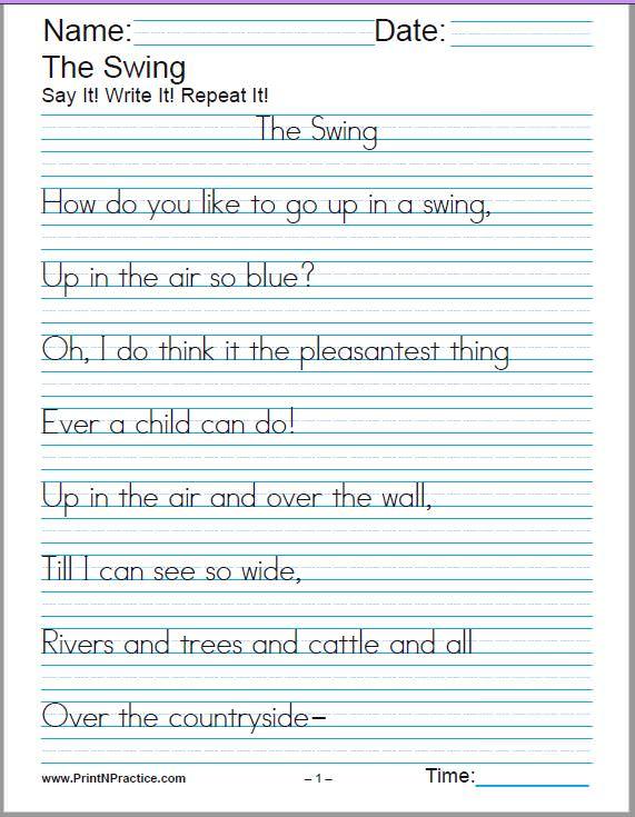60+ Cursive Handwriting Sheets +150 Manuscript Worksheets