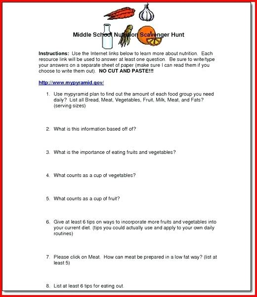 Health And Nutrition Worksheets Health Worksheets For High School