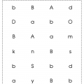 Lowercase B Worksheets