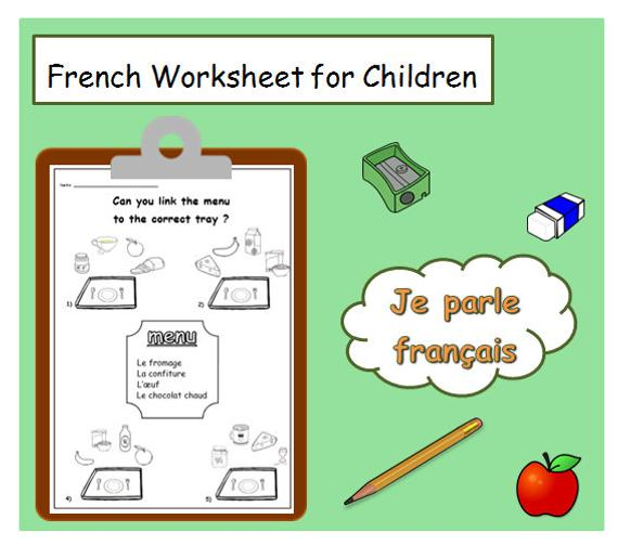 Breakfast French Worksheet   French Language Educational