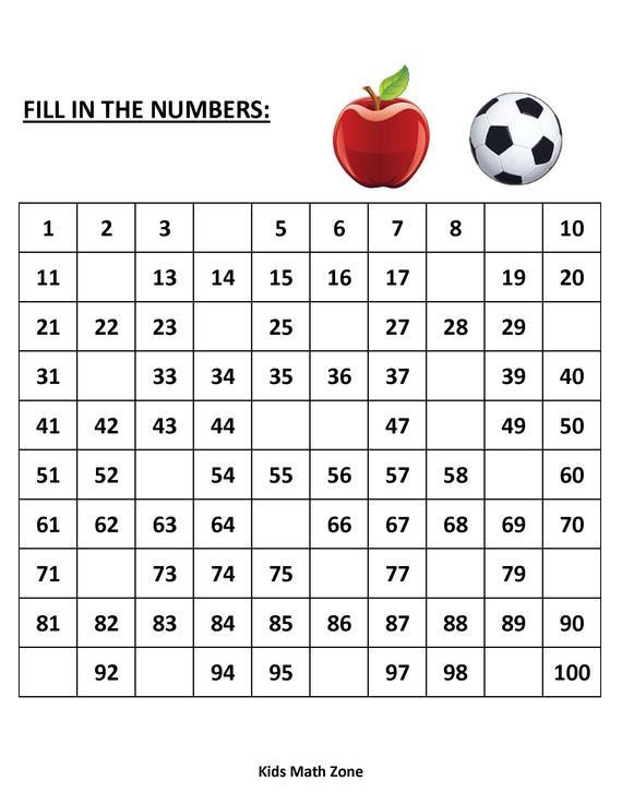Missing Numbers 10 Printable Worksheets  Pdf  Preschool
