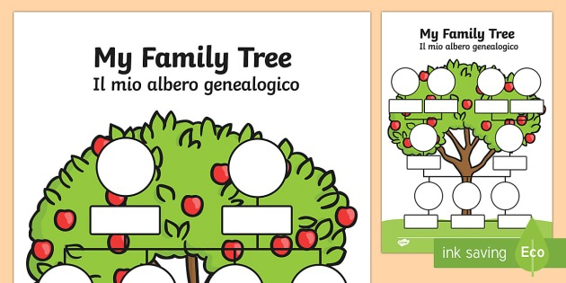 My Family Tree English Italian