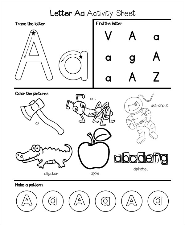 6+ Kindergarten Worksheet Templates