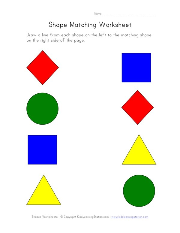Download Matching Worksheet Clipart Worksheet Shape Education