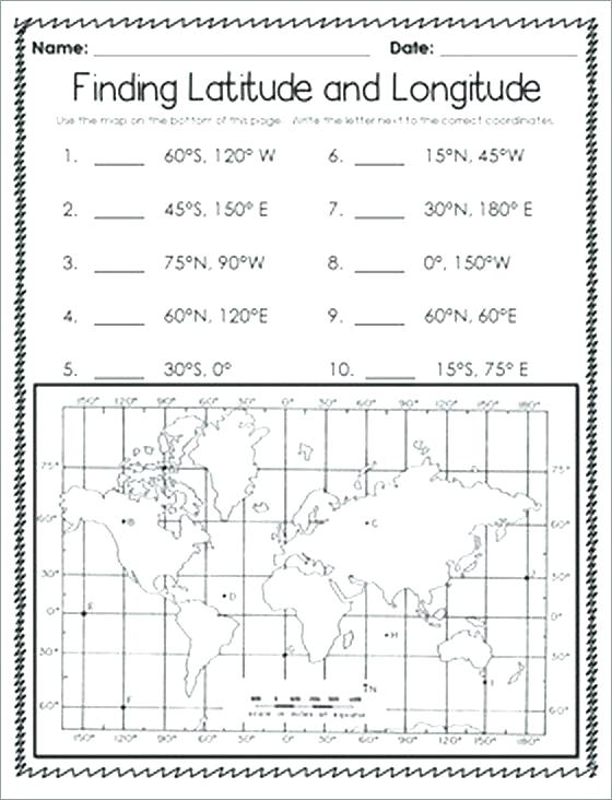 Latitude Longitude Printable Worksheets Related Kids Free Second