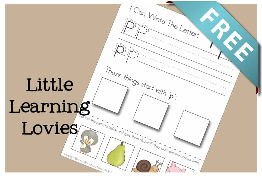 Letter O  Write, Cut & Paste {subscriber Exclusive Freebie}
