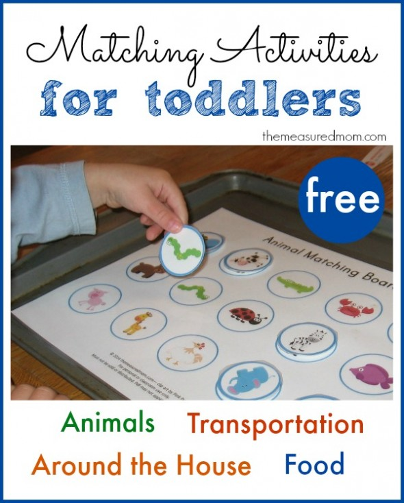 Printable Free Matching Activities For Toddlers