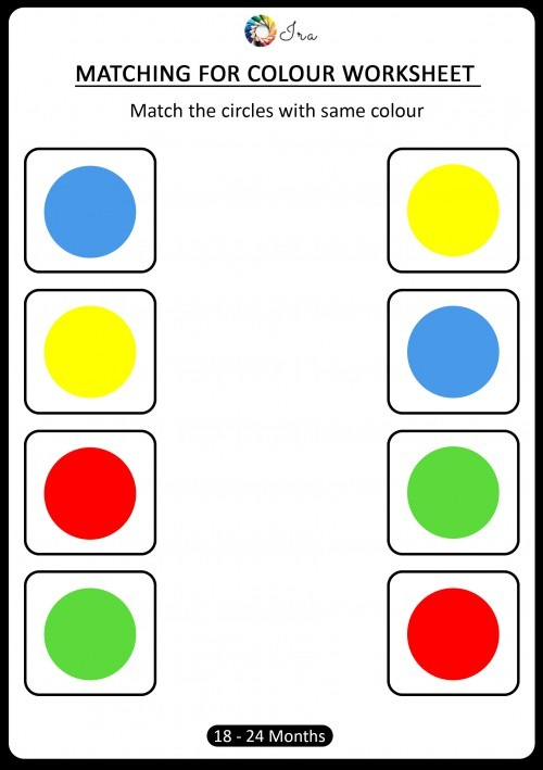 Free Downloadable Matching Colors Worksheets (18