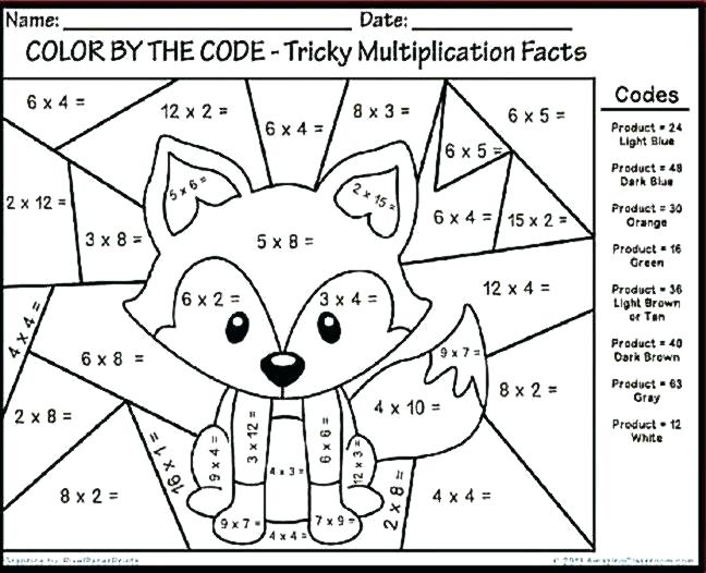 Math Coloring Worksheets Grade Pages And Grad Third 3rd