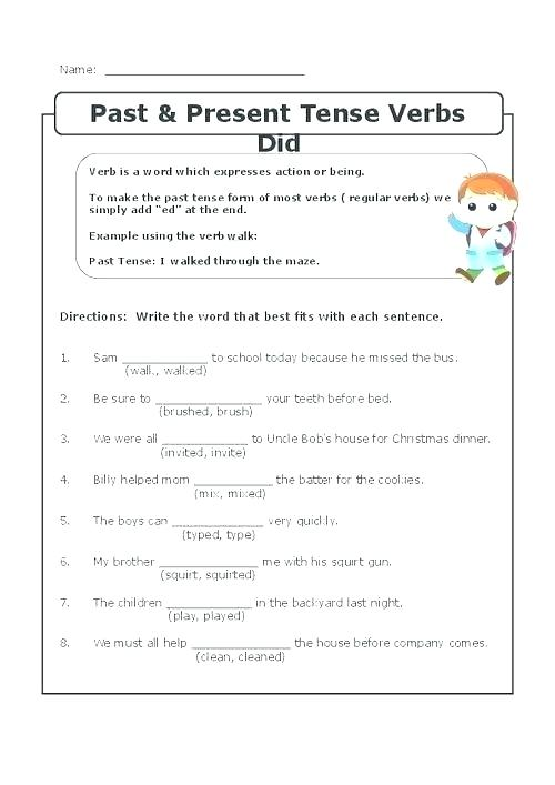 Verbs Helping Verbs Worksheet For Grade 2 Image Irregular Past
