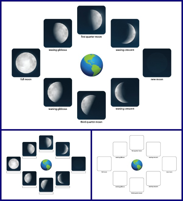Phases Of The Moon Printables