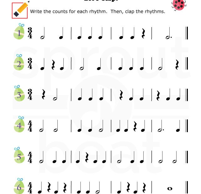 Rhythm Worksheets Free Photos
