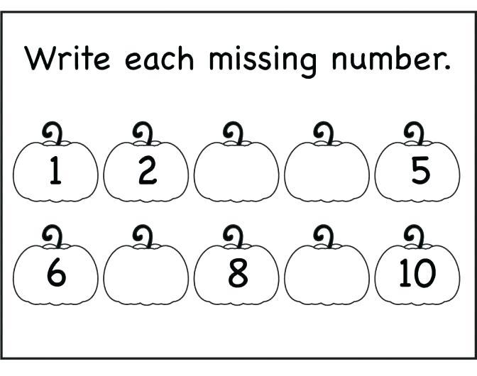 Numbers 1 5 Worksheets For Kindergarten