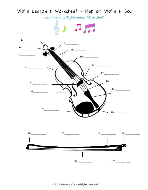 Summer Music Course – Violin Lesson 1 – Getting To Know Your