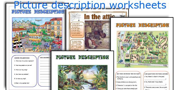 Picture Description Worksheets