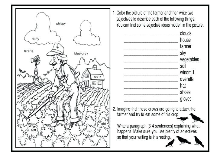 Picture Description Worksheets For Grade 1 Describing Pictures Esl