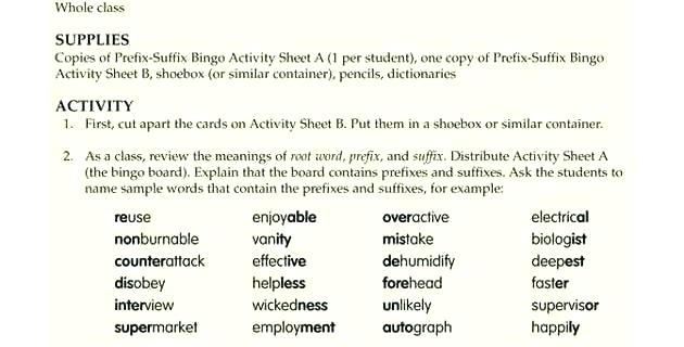 Prefix And Suffix Worksheets Grade Also Best Prefixes Suffixes