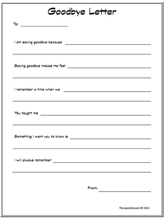 Goodbye Letter (worksheet)