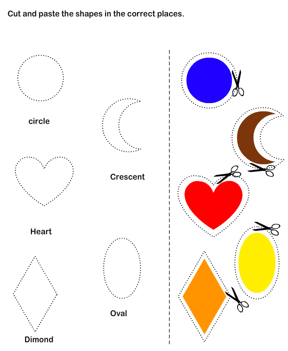 Printable Cut And Paste Worksheets For Kindergarten