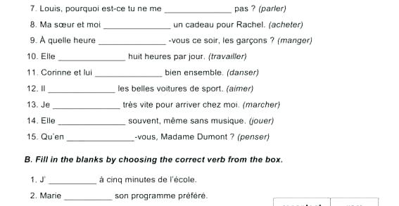 Printable French Worksheets For High School French Worksheets For