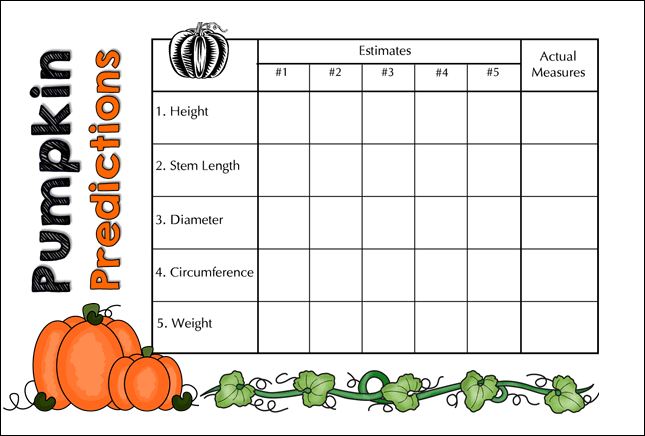 Pumpkin Predictions Measurement Fun!