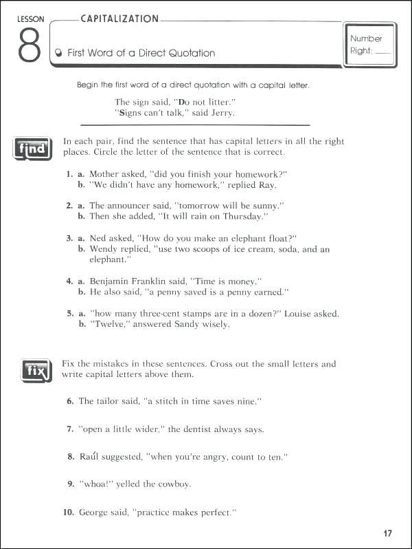 Punctuation Worksheets 2nd Grade High School Hi On Kids Spelling