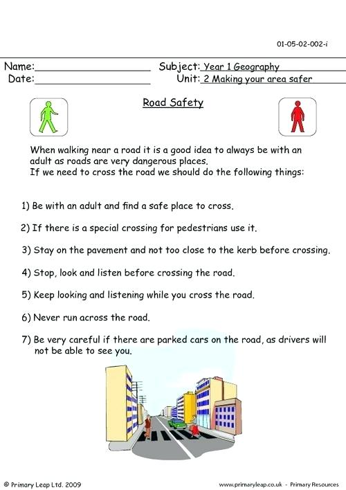 Related Worksheets Road Safety What Should You Do Road Safety