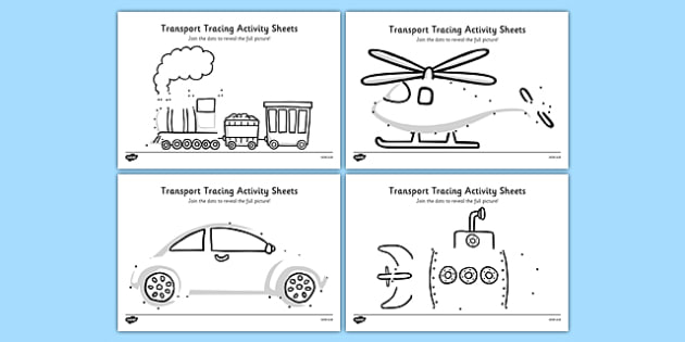 Aistear Transport Tracing Worksheet   Worksheets