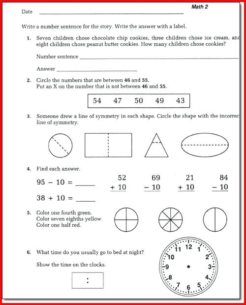 Saxon Math Worksheets Grade 5th