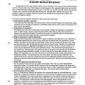 Scientific Method Worksheets Answers